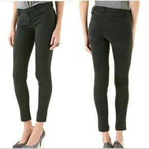 J BRAND Dark Green Super Skinny Jeans Soft EUC 27
